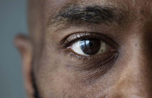 black man closeup