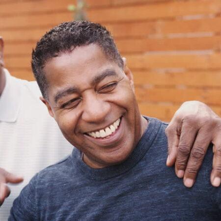 black men laughing